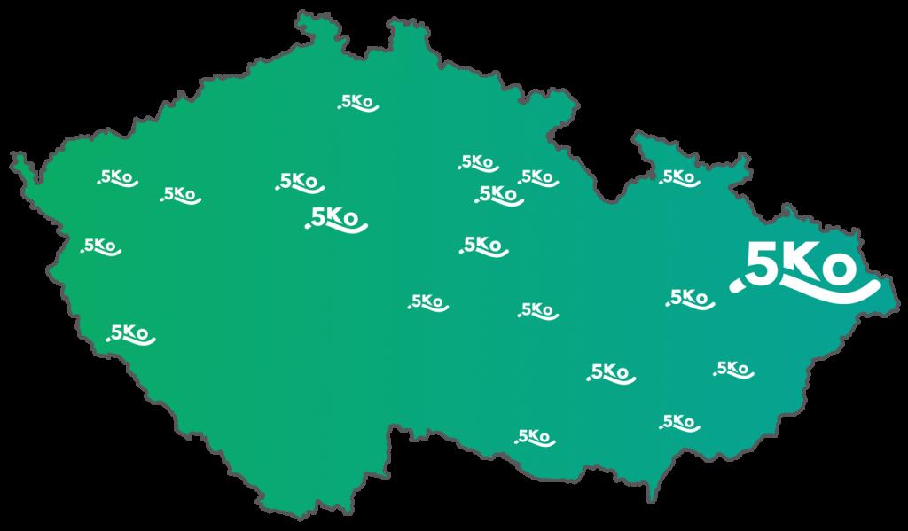 Mapa zakazniku 5Ko